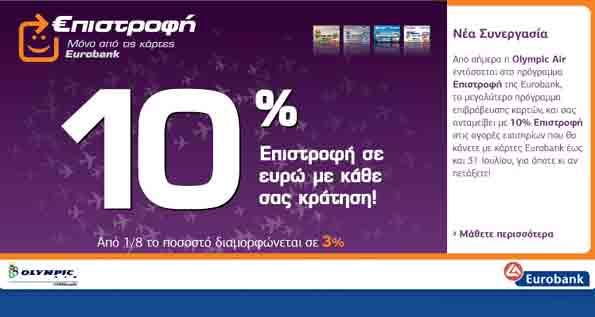 Νέα συνεργασία Olympic Air και Eurobank!